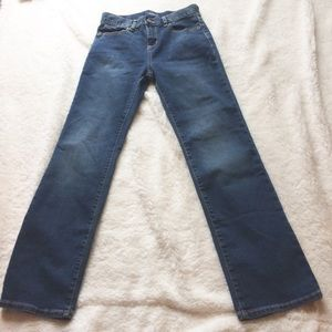 DKNY BOOTCUT MED WASH SOHO JEANS 25 MIN DISTRESSED